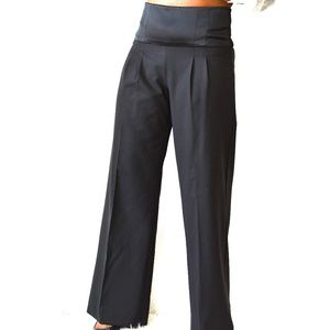 Sophia Eugene Black Flare Dress Pants Size 4